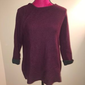 Nanette Nanette Lepore Maroon Sweater with zippers